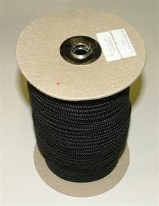 K800 Bábu kötél 6mm fekete 50 méter / tekercs képe