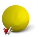 Teke golyó Aramith sárga 160 mm képe
