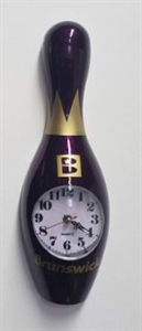 Bowling bábu falióra 30 cm-es lila képe